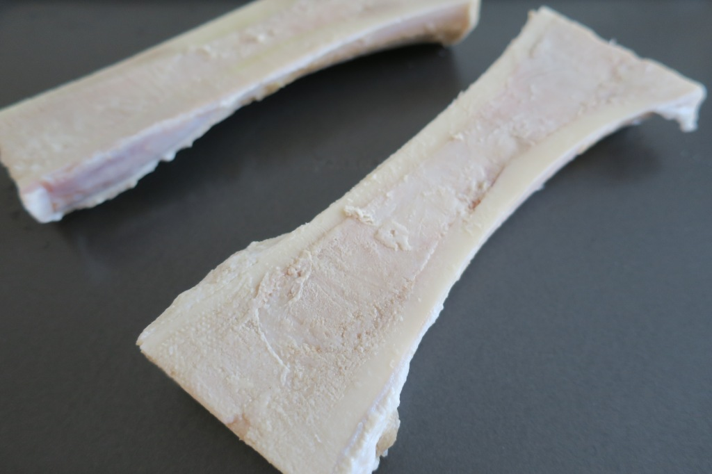 Bone Marrow dried after salt water bath